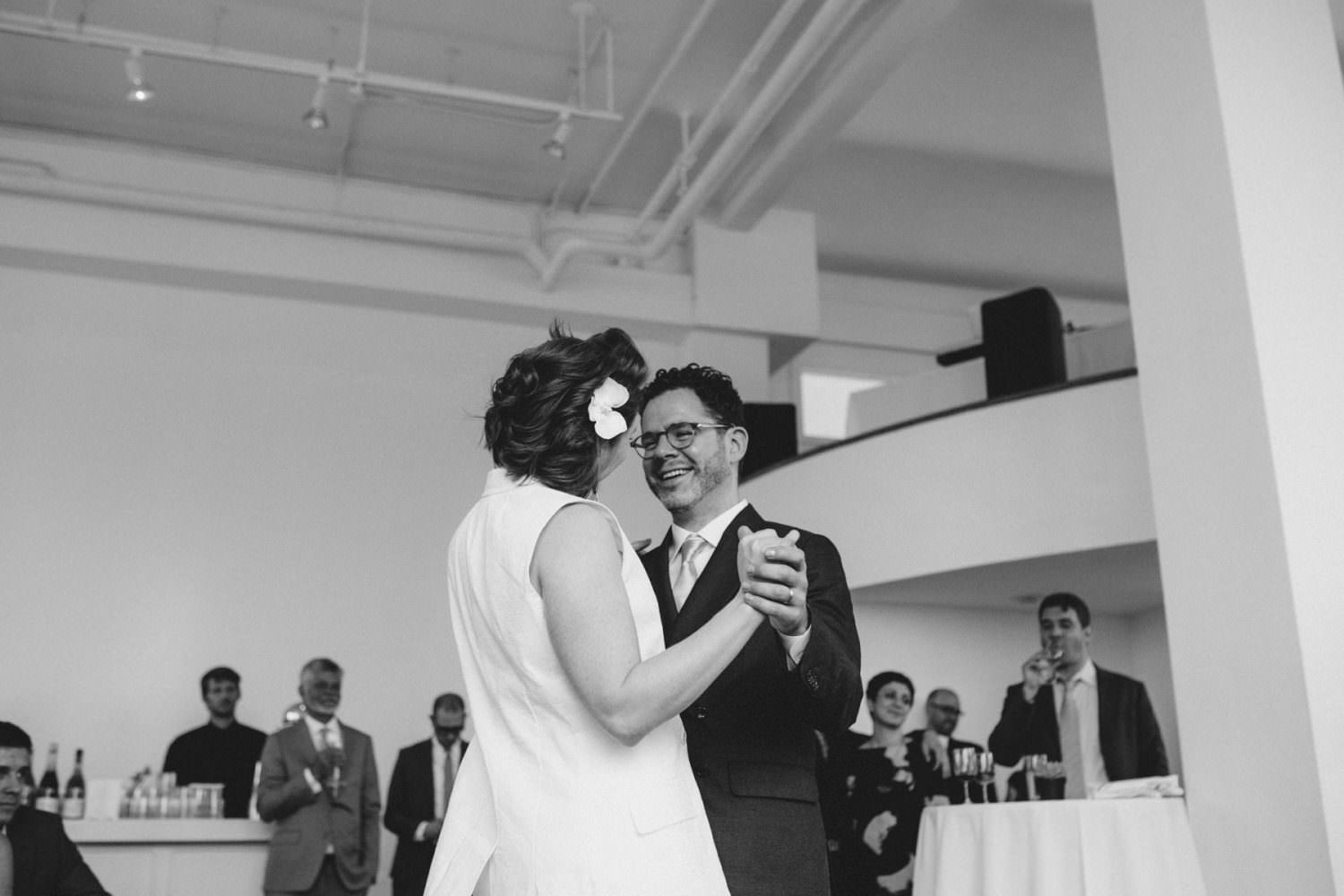 Couple's first dance at Ramscale Studio in NYC