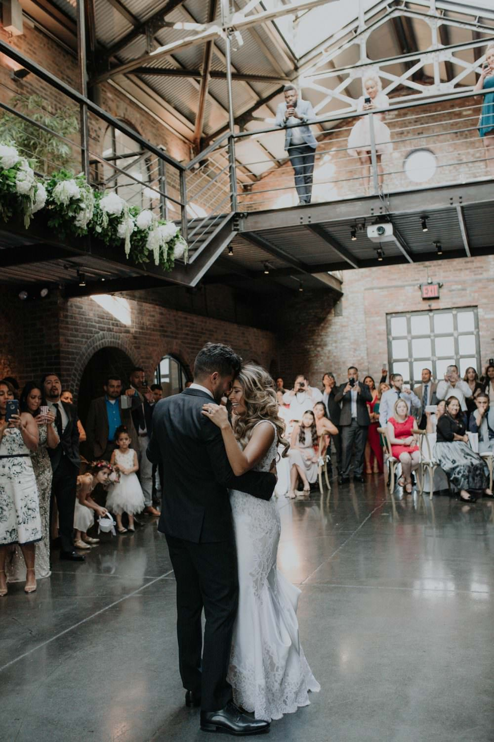 Bride and Groom's first dance at The Foundry