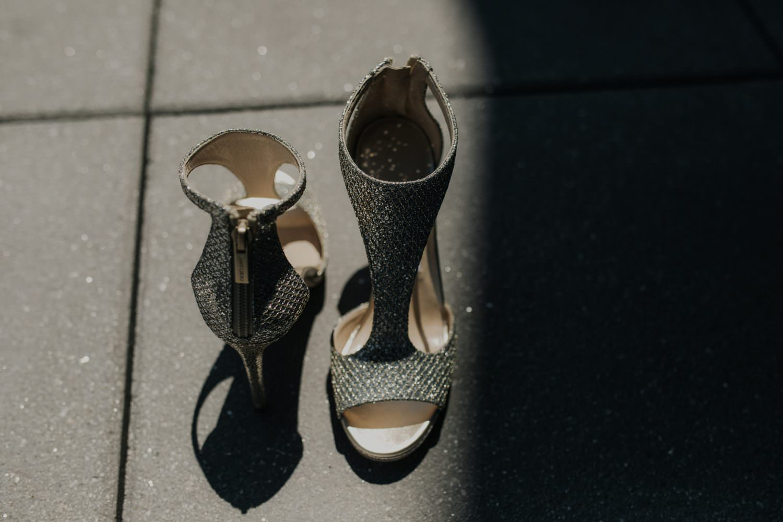 Details of a brides Jimmy Choo shoes
