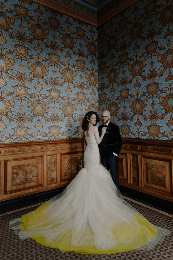 Portrait of a bride and groom at the Weylin in Brooklyn